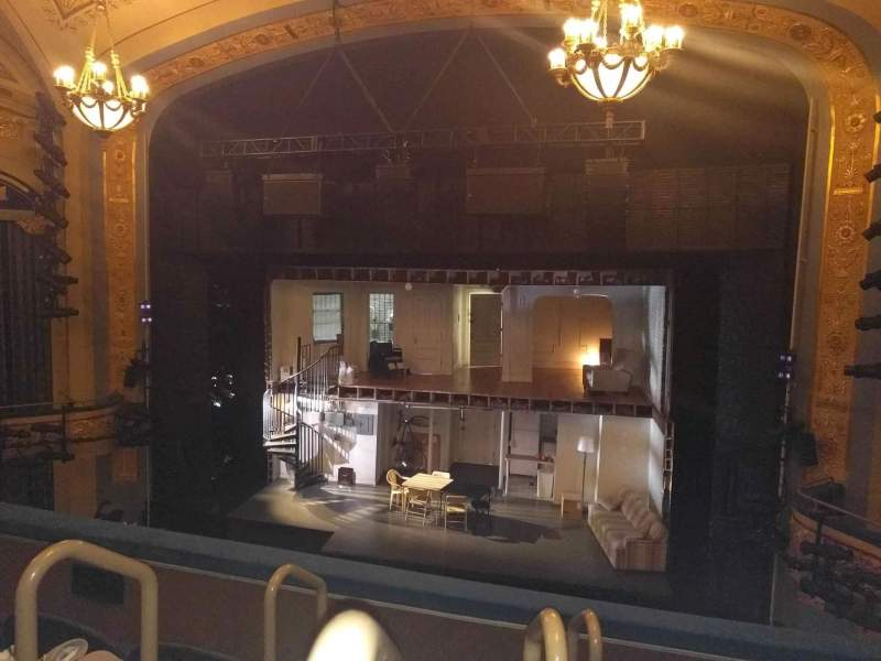 Seating view for Gerald Schoenfeld Theatre Section Mezzanine R Row D Seat 2