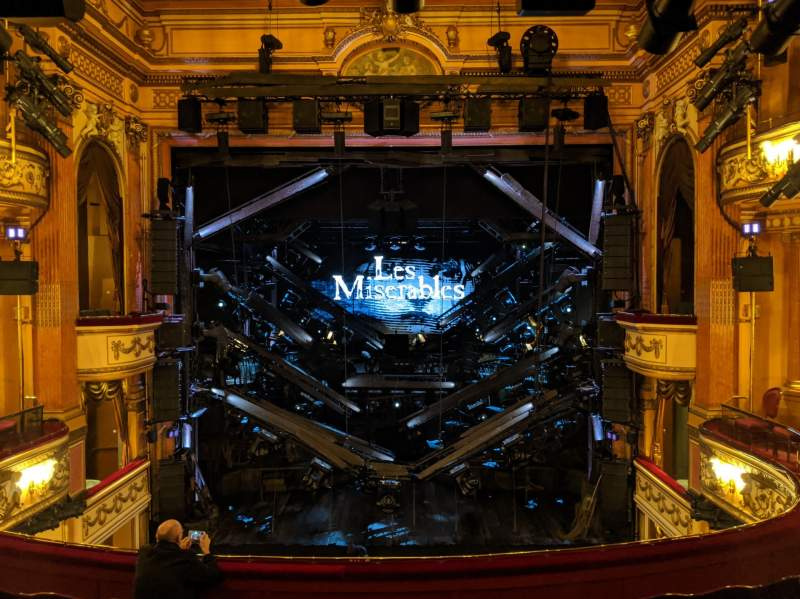 Seating view for Gielgud Theatre Section Dress Circle Row F Seat 17