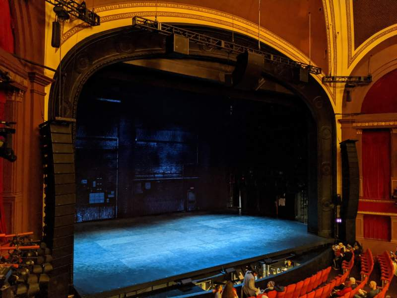 Seating view for Broadway Theatre - 53rd Street Section Front Mezzanine L Row A Seat 10