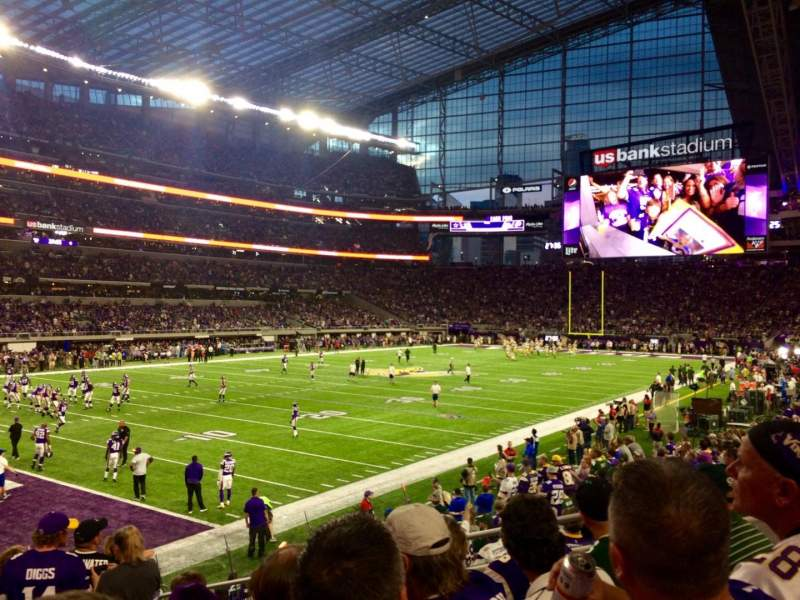 Seating view for U.S. Bank Stadium Section 114 Row 12 Seat 7