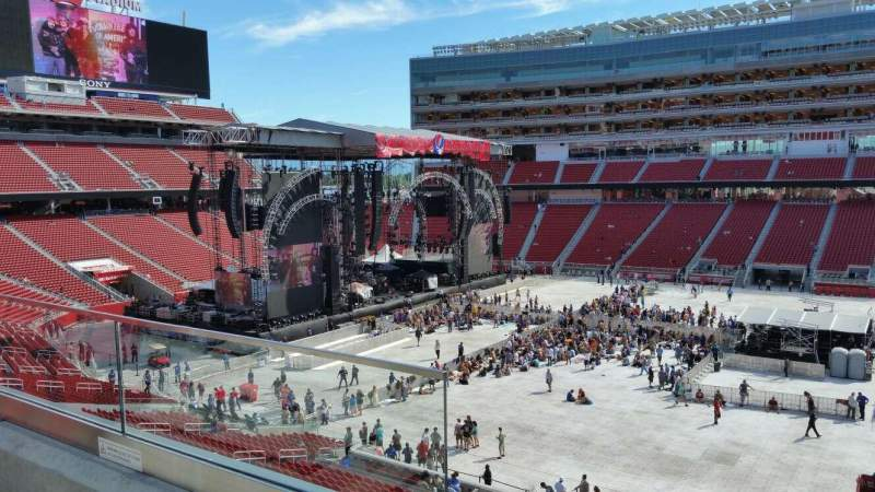 Seating view for Levi's Stadium Section 214 Row 16 Seat 9