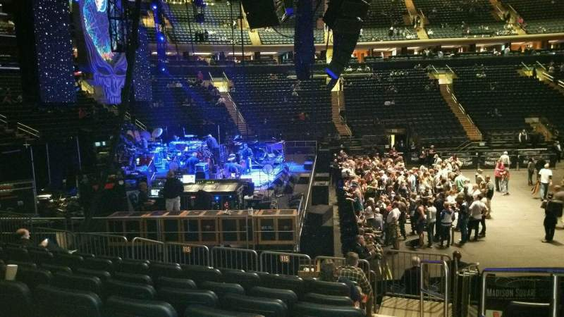 Seating view for Madison Square Garden Section 115 Row 11 Seat 18