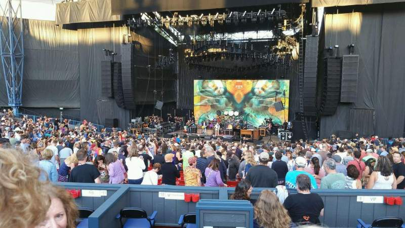 Seating view for Shoreline Amphitheatre Section Box C13 Row 1 Seat 1