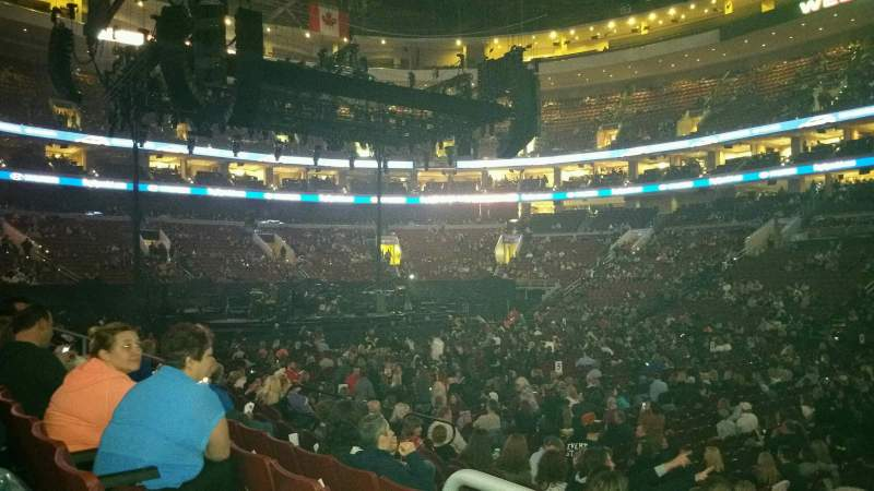 Seating view for Wells Fargo Center Section 102 Row 10 Seat 16