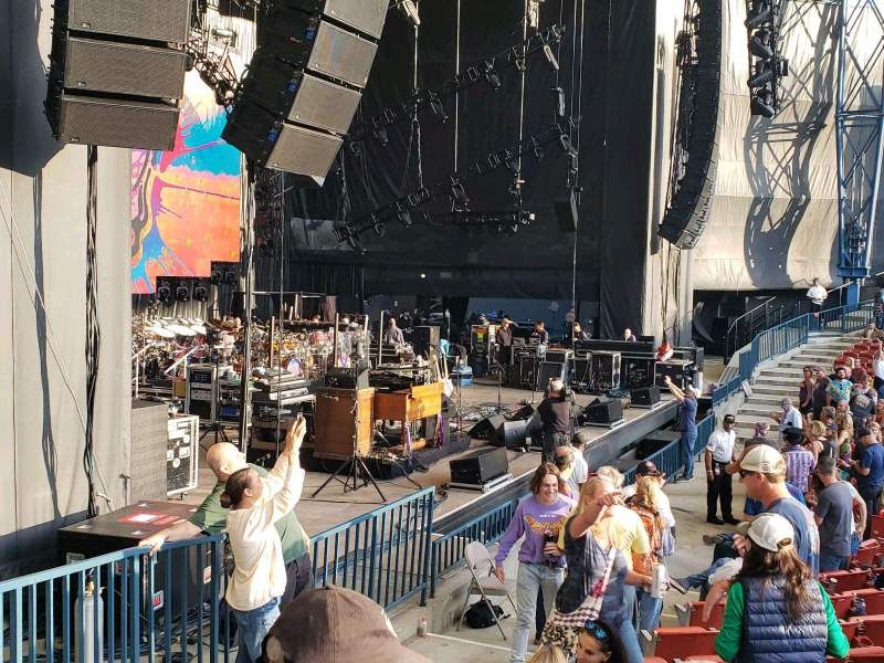 Seating view for Shoreline Amphitheatre Section 103 Row I Seat 26