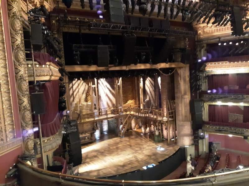 Seating view for CIBC Theatre Section Mezzanine L Row E Seat 13