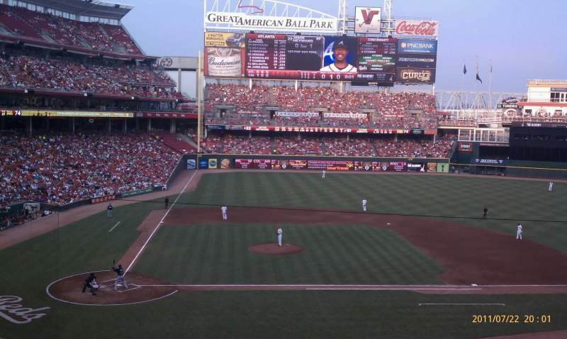 Seating view for Great American Ball Park Section 301 Row C Seat 15