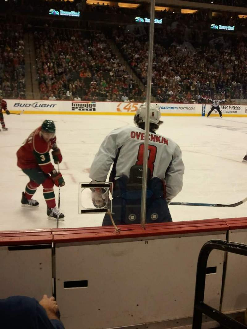 Seating view for Xcel Energy Center Section 119 Row 2 Seat 1