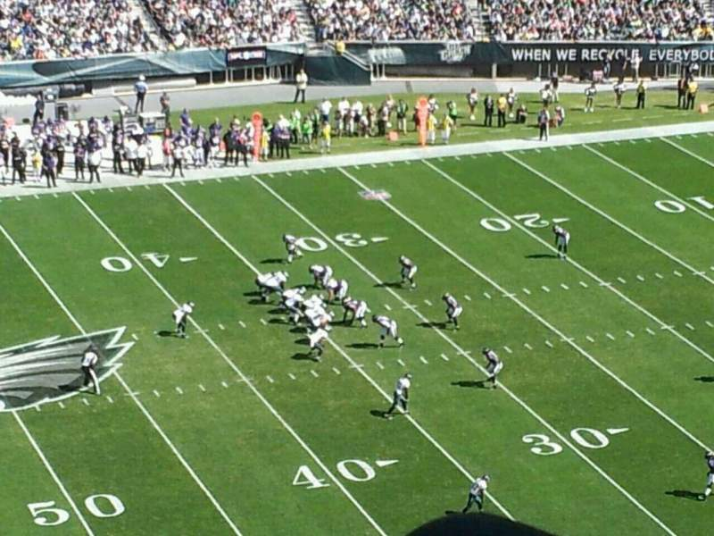 Seating view for Lincoln Financial Field Section 244 Row 7 Seat 15