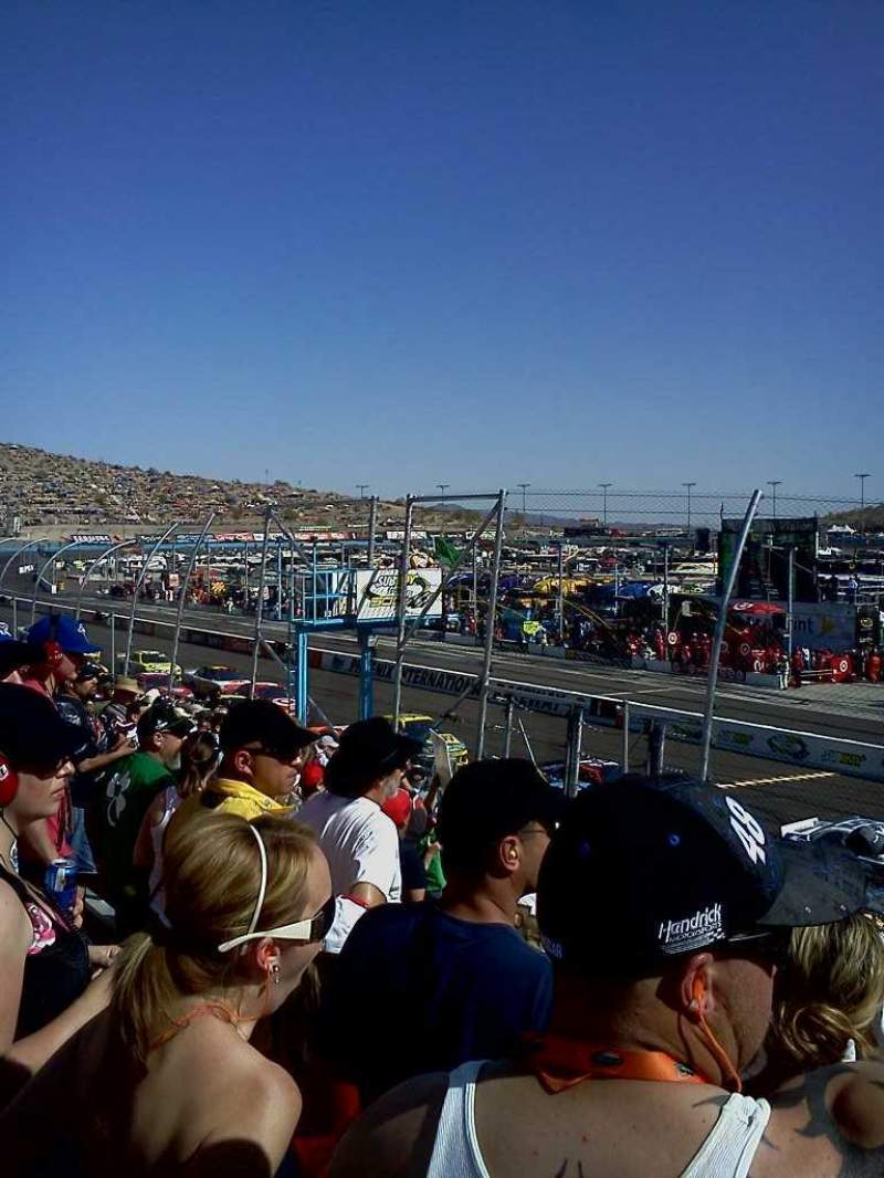 Seating view for Phoenix International Raceway Section Bryan Row 10 Seat 2