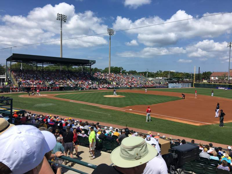 Seating view for LECOM Park Section IFRS14 Row 10 Seat 18