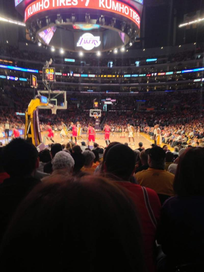 Staples Center, section: 115, row: L, seat: 3