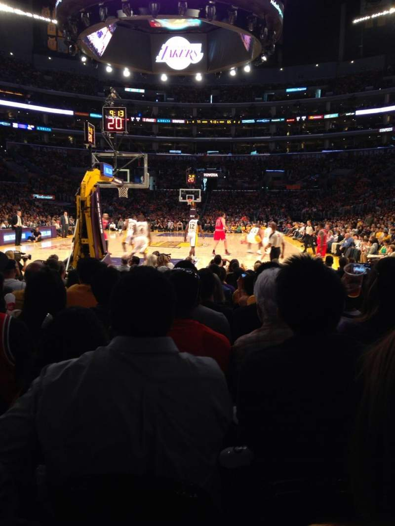 Seating view for Staples Center Section 115 Row L Seat 3