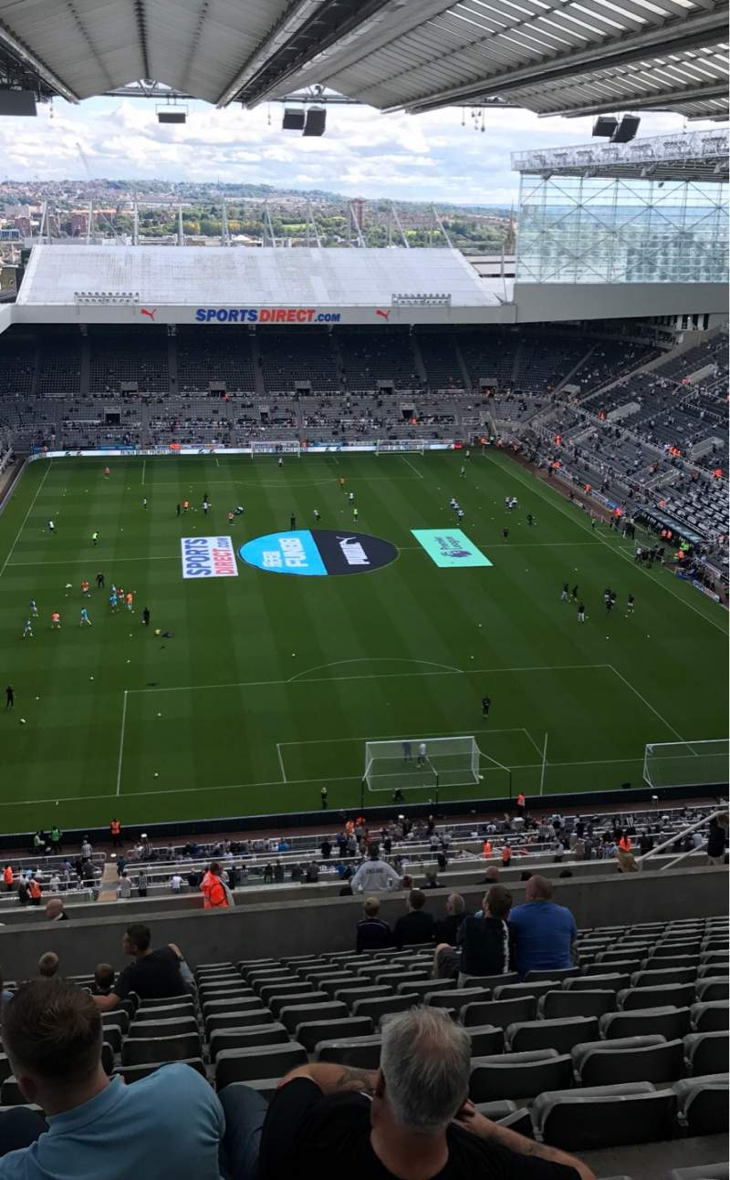 Seating view for St James' Park Section Leeses Stand Level 7 Row V Seat 546