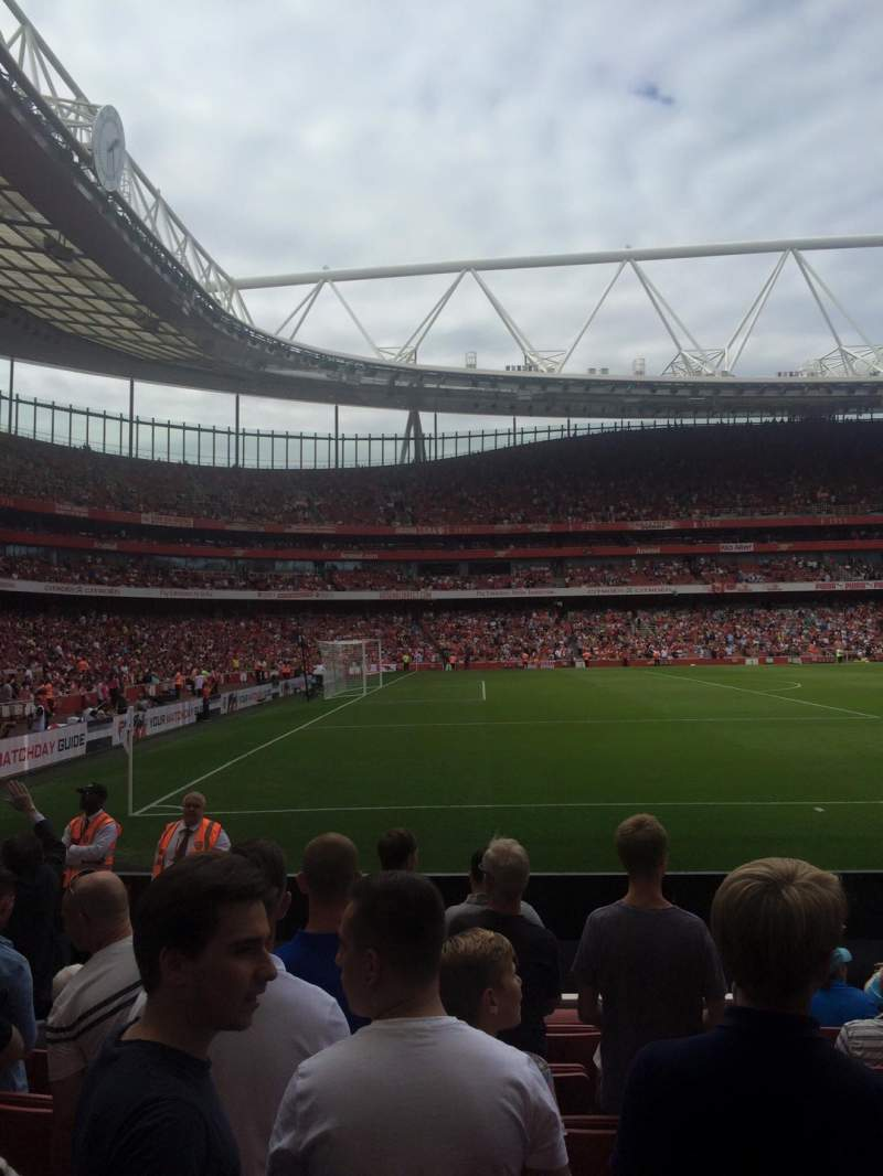 Seating view for Emirates Stadium Section 20 Row 8 Seat 602