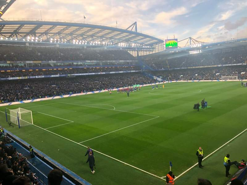 Seating view for Stamford Bridge Section Shed End Upper 1 Row 5 Seat 35