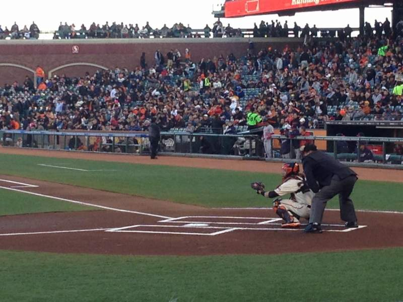 Seating view for AT&T Park Section PFC 121 Row B Seat 15and16