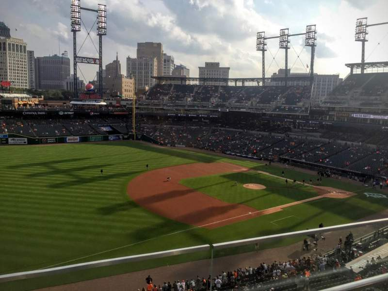 Seating view for Comerica Park Section 338 Row B Seat 22