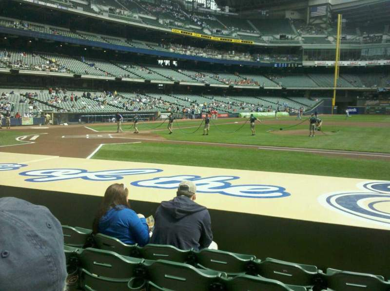 Seating view for Miller Park Section 113 Row 8 Seat 10
