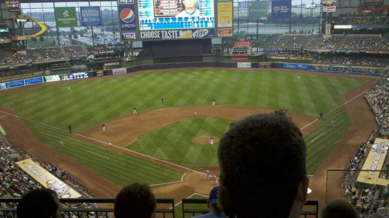 Seating view for Miller Park Section 423 Row 4 Seat 3