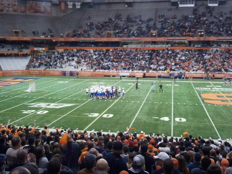 Seating view for Carrier Dome Section 116 Row z Seat 115