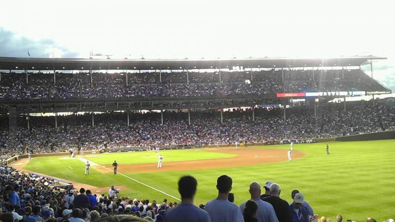 Seating view for Wrigley Field Section 242 Row 2 Seat 118