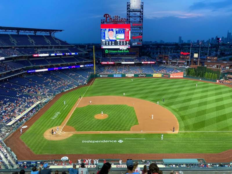 Seating view for Citizens Bank Park Section 415 Row 1 Seat 24