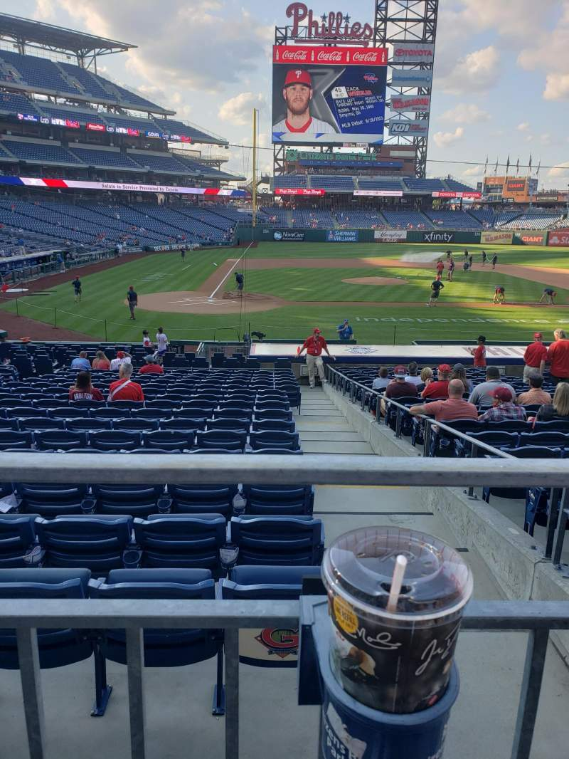 Seating view for Citizens Bank Park Section 119 Row 21 Seat 4