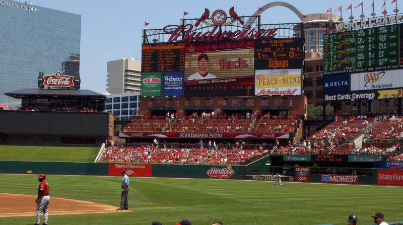 Seating view for BUSCH STADIUM Section 144 Row A Seat 1