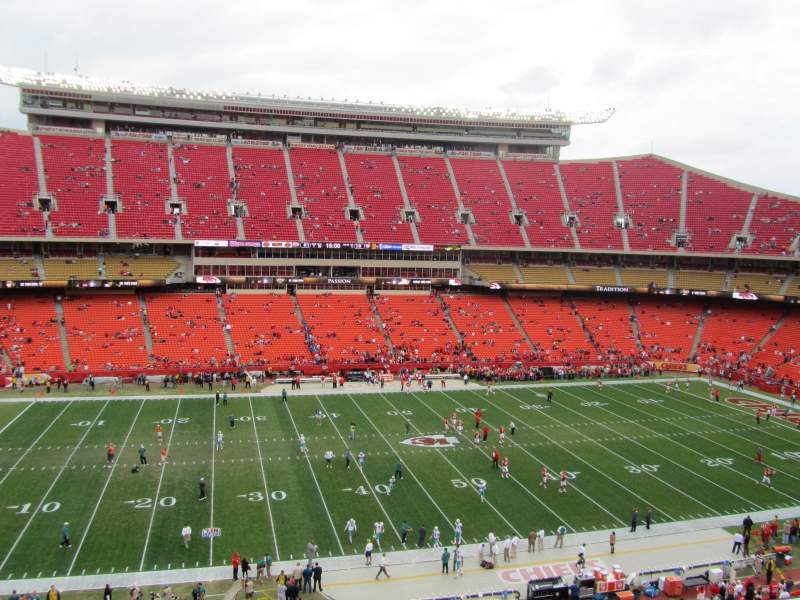 Seating view for ARROWHEAD STADIUM Section 303 Row 4 Seat 5