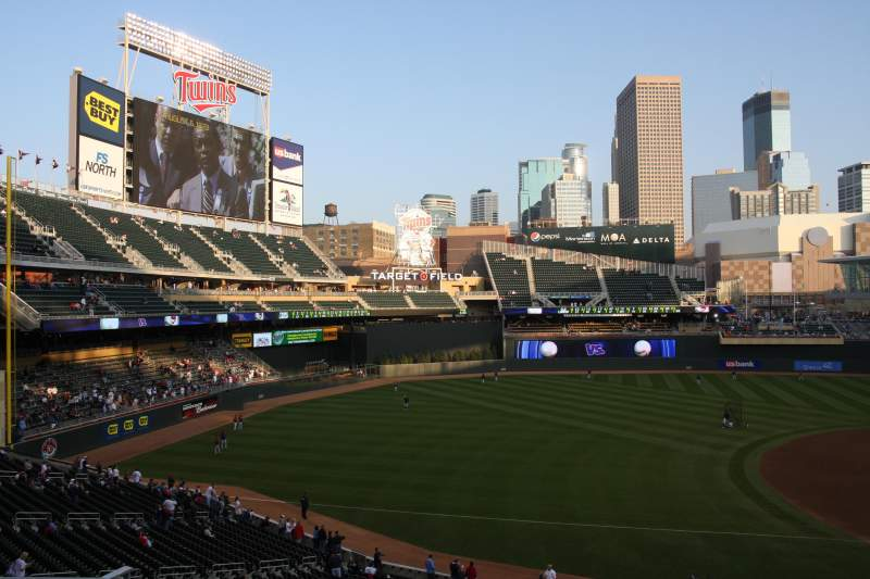 Seating view for TARGET FIELD Section R Row 7 Seat 13