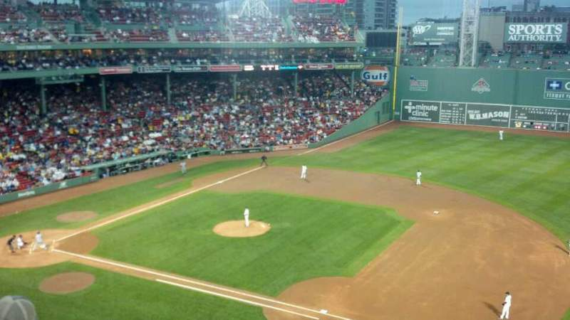 Seating view for Fenway Park Section Pavilion Club 9 Row 3 Seat 4