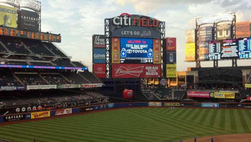 Seating view for Citi Field Section 326 Row 1 Seat 14