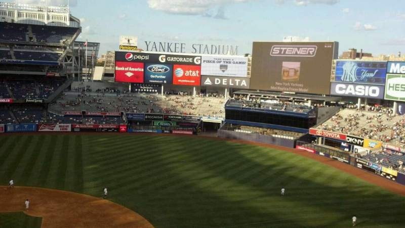 Seating view for Yankee Stadium Section 316 Row 1 Seat 8