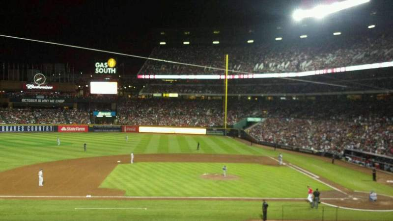 Seating view for Turner Field Section 212 Row 5 Seat 6