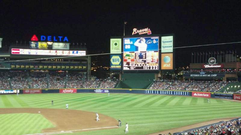 Seating view for Turner Field Section 207 Row 9 Seat 12