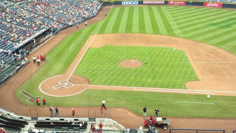 Seating view for Turner Field Section 409 Row 1 Seat 7