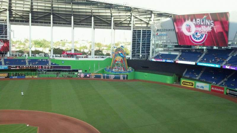Seating view for Marlins Park Section 308 Row A Seat 18