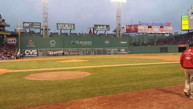Seating view for Fenway Park Section Field Box 36 Row D Seat 1