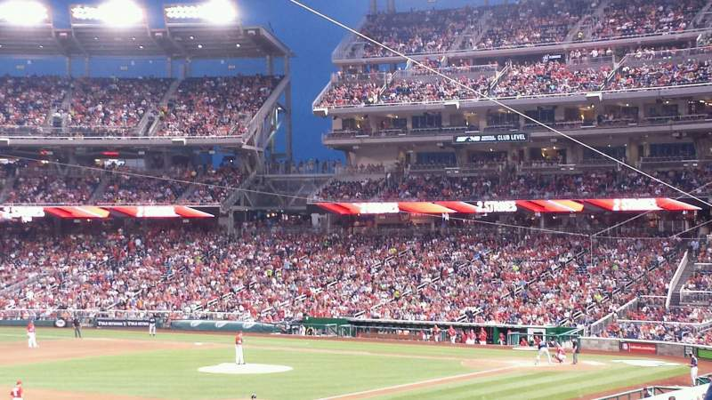 Seating view for Nationals Park Section 111 Row RR Seat 8