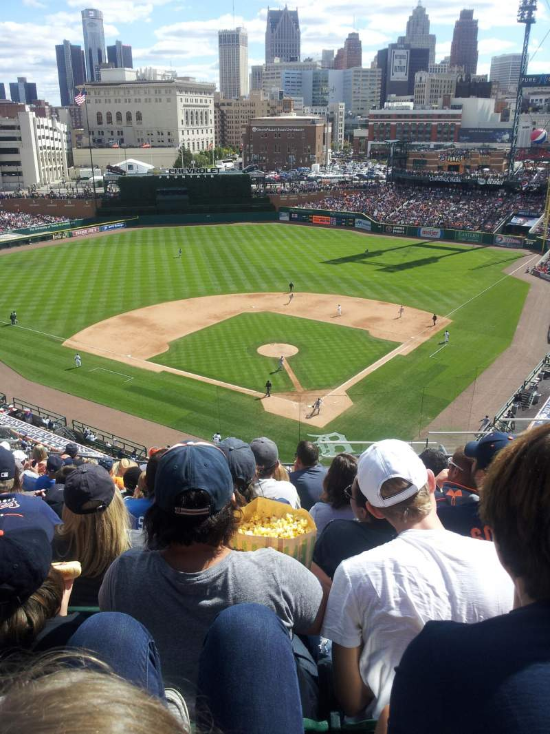 Seating view for Comerica Park Section 329 Row 12 Seat 7