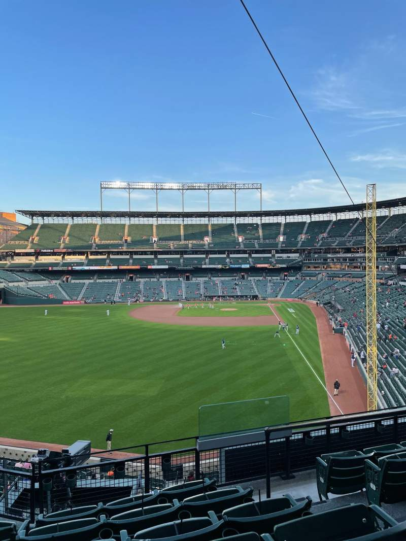 Seating view for Oriole park at Camden yards Section 280 Row 6 Seat 2