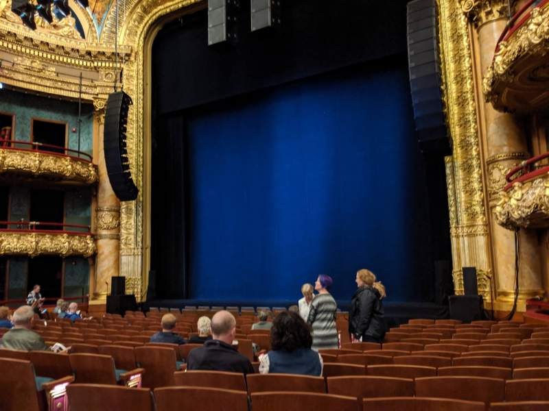 Seating view for Emerson Colonial Theatre Section Orchestra Row Q Seat 12