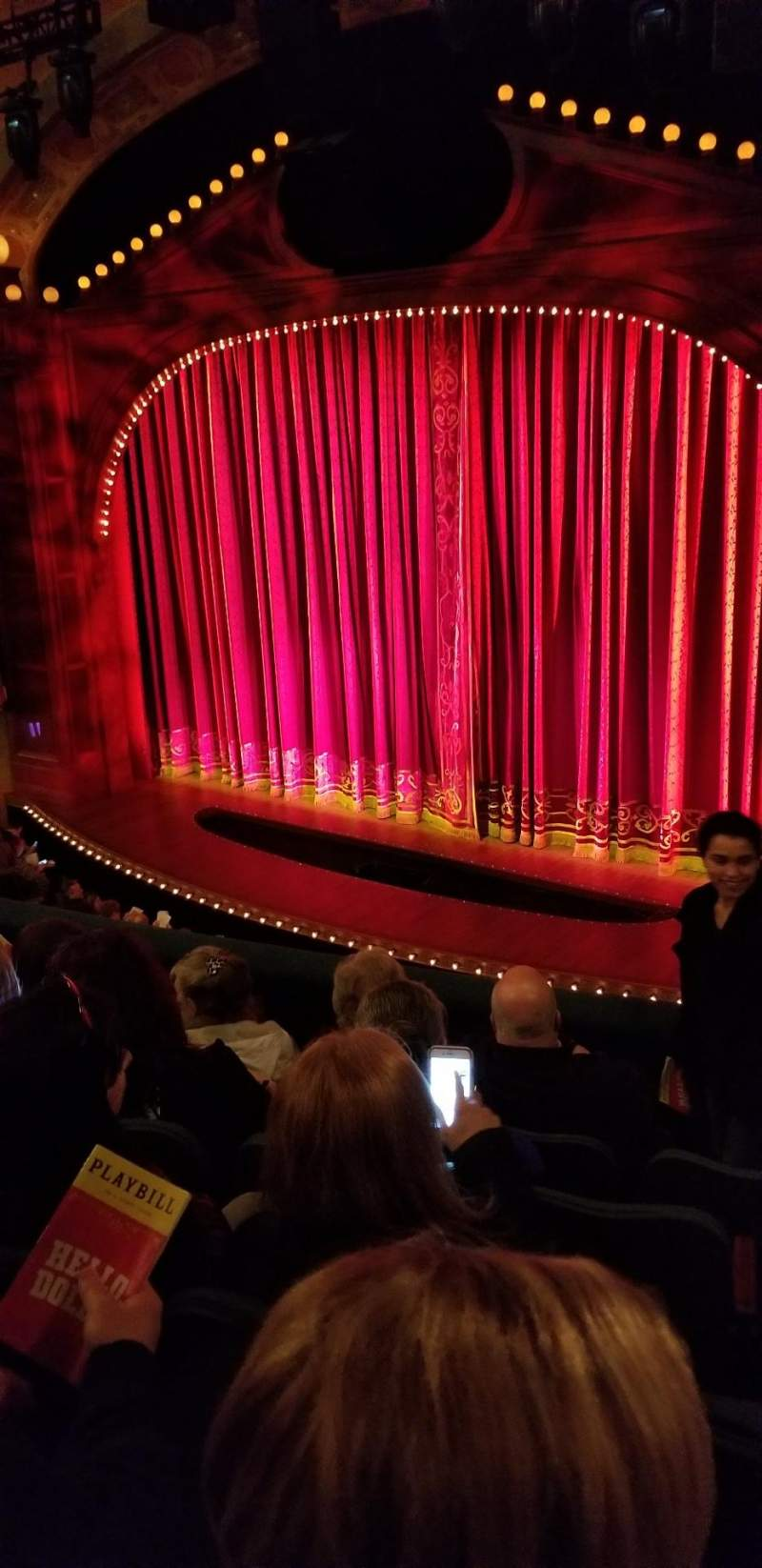 Seating view for Shubert Theatre Section Mezzanine R Row E Seat 18