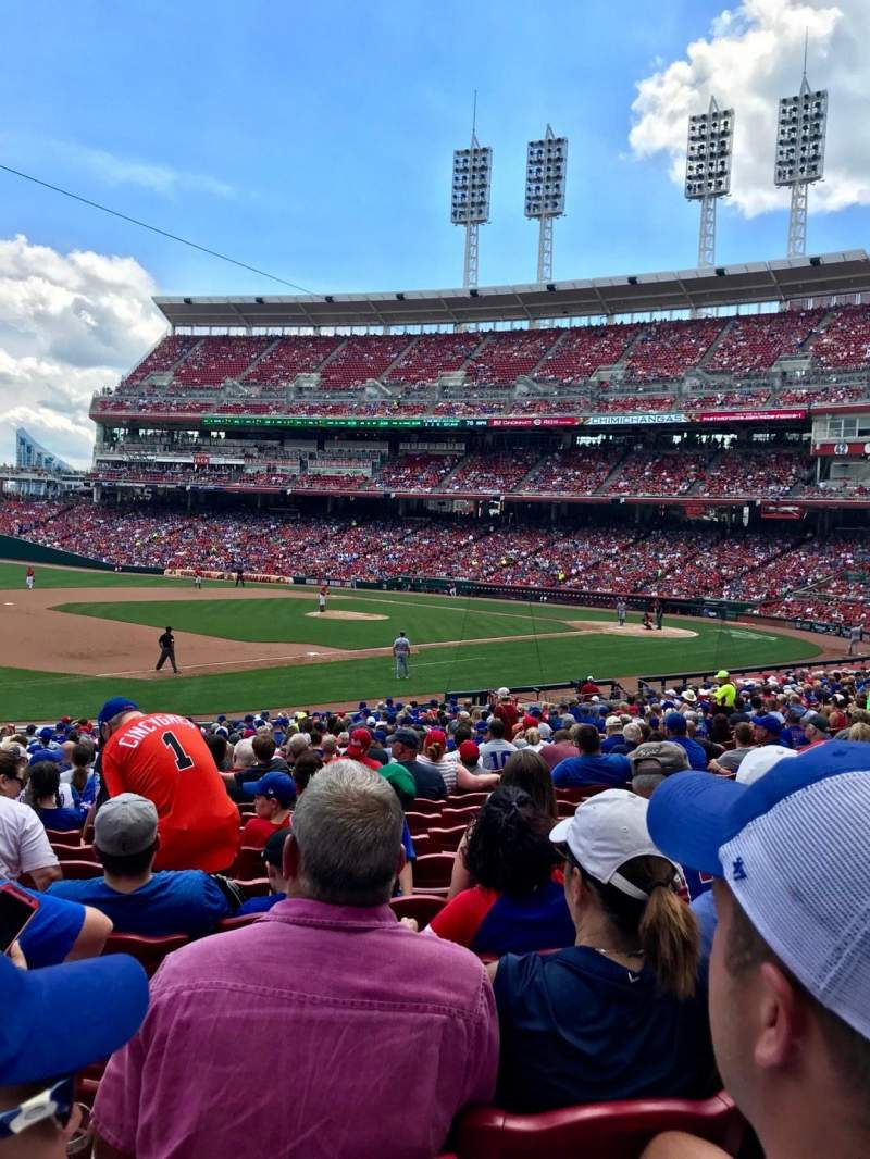 Seating view for Great American Ball Park Section 113 Row BB Seat 16