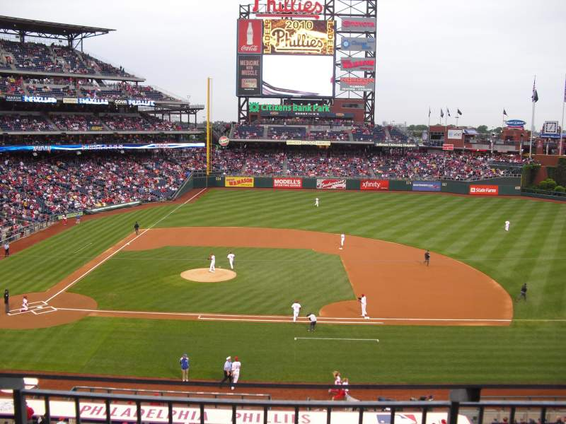Seating view for Citizens Bank Park Section 216 Row 2 Seat 7