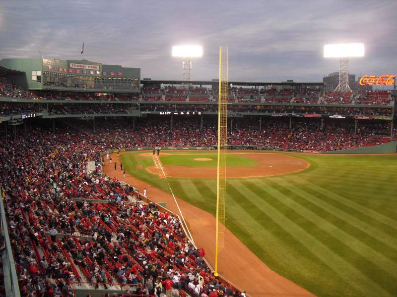 Seating view for Fenway Park Section Right Field Roof Deck Tables Row 1 Seat 1