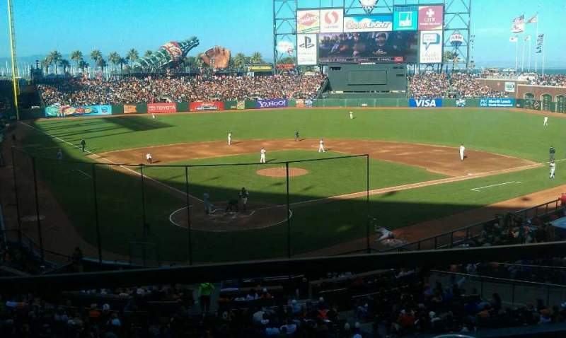 Seating view for AT&T Park Section 214 Row A Seat 1