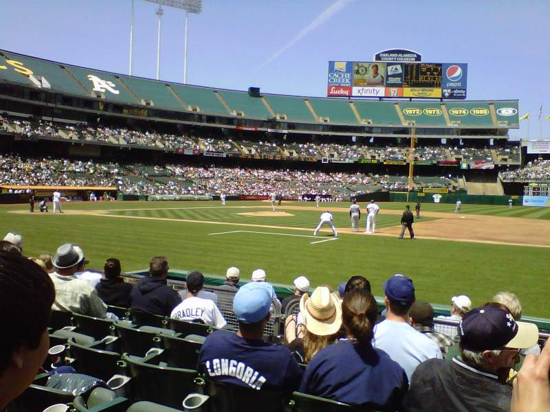 Seating view for Oakland Alameda Coliseum Section 111 Row 5 Seat 4