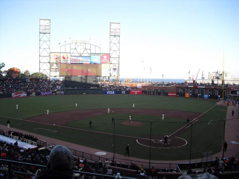 Seating view for AT&T Park Section 218 Row C Seat 6